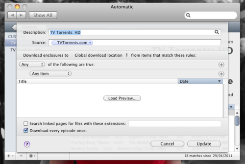 Adding a feed to Automatic.