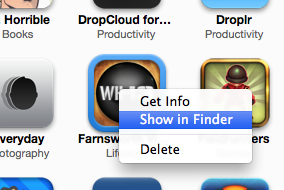 Show in Finder in the iTunes context menu.