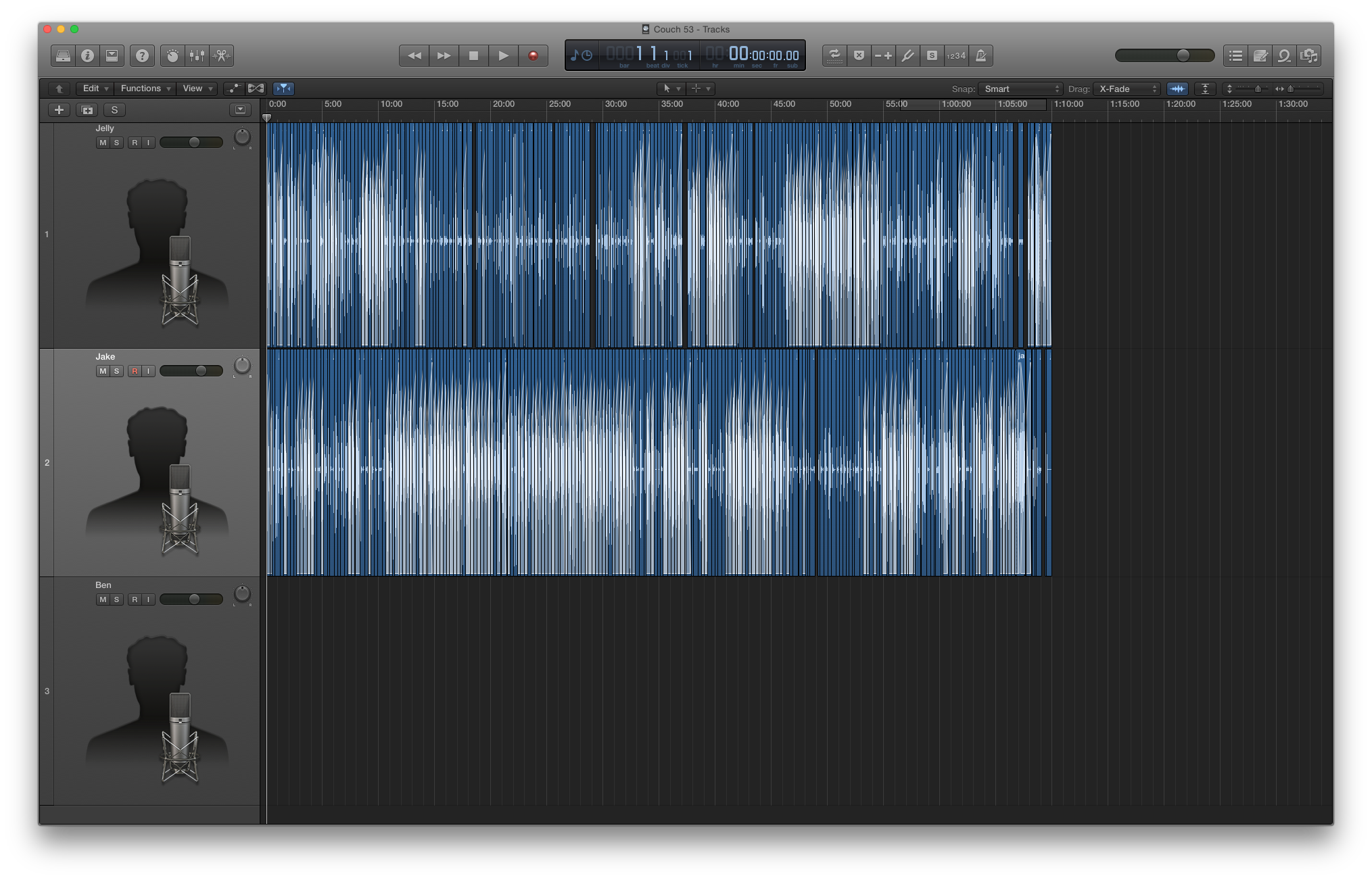 The final version of Mobile Couch 53 in Logic Pro X.